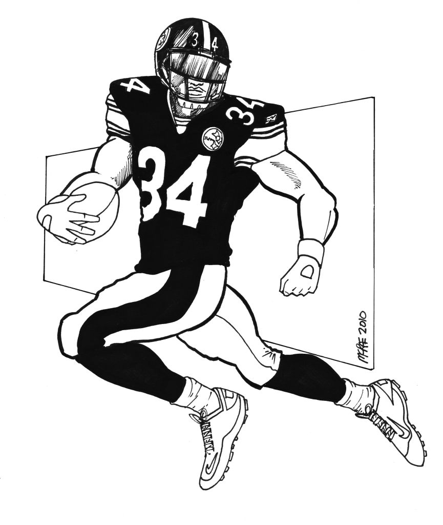 Michael vick coloring pages murderthestout for Steelers football helmet coloring page